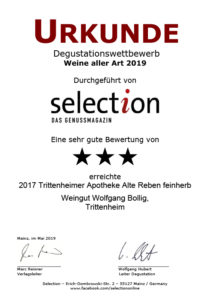 2017 Trittenheimer Apotheke Alte Reben feinherb