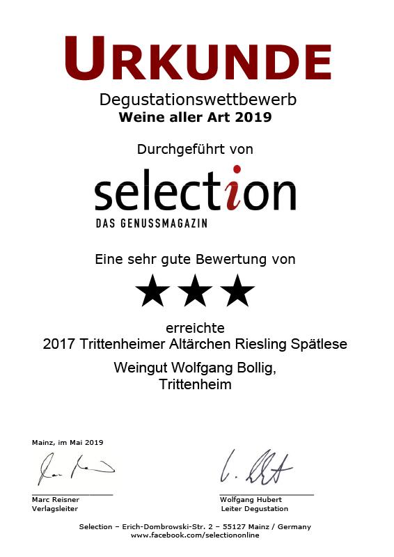 2017 Trittenheimer Altärchen Riesling Spätlese