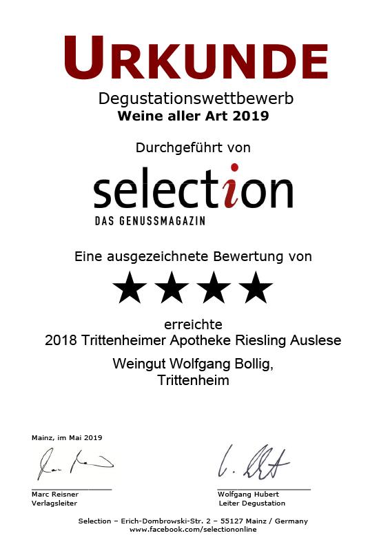 2018 Trittenheimer Apotheke Riesling Auslese